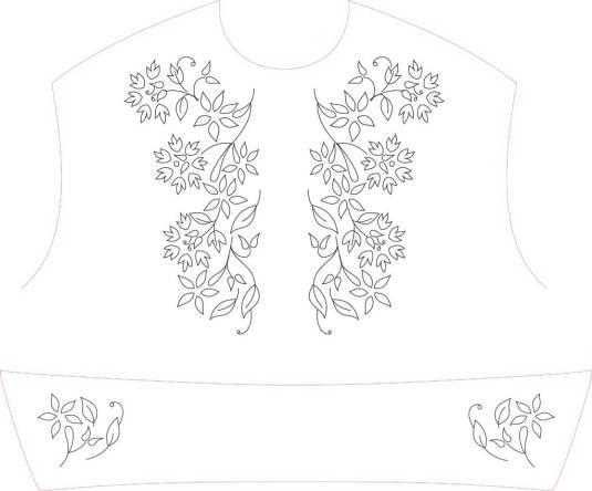 Desenho de flores sugerido pela estilista Farm.